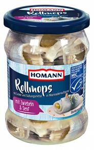 Homann MSC Rollmops mit Meersalz 500 g