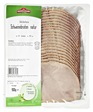 Henkelmann Delikatess Schinkenbraten Natur Schweinefleisch (94%), schonend gegart, dunkelbraun gebraten 500 g