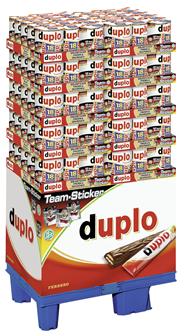 Duplo Schokoriegel Gefüllte Vollmilchschokolade mit Waffel (7 %), Nugatcreme (17 %), 18 Stück á 18,2 g 150 x 328 g Packungen