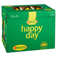 Happy Day roter Traubensaft 100% Traubensaft 12 x 1 l Packungen