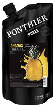 Ponthier Fruchtpüree Ananas gezuckert, aus Frankreich 1 kg Beutel