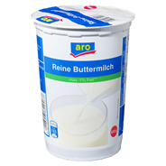 Aro Reine Buttermilch 0,7 % Fett 12 x 500 g Becher