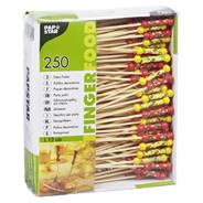 Papstar Finger Food Deko-Picker aus Bambus 12 cm, 250 Stück