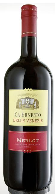 Ca'Ernesto Merlot Delle Venezie Rotwein IGT italienischer Landwein 6 x 1,5 l Flaschen