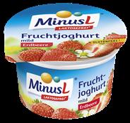MinusL Fruchtjoghurt laktosefrei, Mix aus Erdbeere, Vanielle & Kirsche 3,8 % Fett 150 g Mischkarton