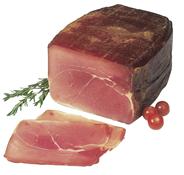 Kernschinken im Tuch mit Schwarte, langsame, drei Monate dauernde Reife, Buchenholzräucherung & trockene Salzung ca. 3,6 kg