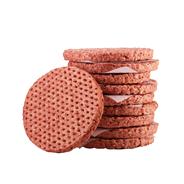 Salomon Hitburger Plus Hamburger tiefgefroren, gewürzt Hot, 4-4,5 inch, 50 Stück à 100 g, Waffeloptik, aus Rindfleisch 5 kg Karton