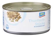 aro Thunfischstücke in eigenem Saft und Aufguss 48 x 185 g Dosen