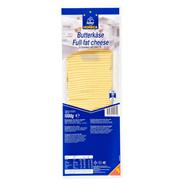 Horeca Select Butterkäse geschnitten 10 x 10 cm Scheiben, 45 % Fett, wiederverschließbar 1 kg Packung
