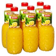 Granini Trinkgenuss Orangensaft mit Fruchtfleisch, 100% Fruchtgehalt 6 x 1 l Flaschen