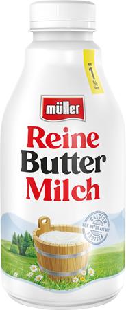Müller Reine Buttermilch 0,6 % Fett 500 g Flasche