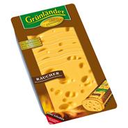 Grünländer Räucher halbfester Schnittkäse, 48 % Fett i. Tr. 500 g Packung