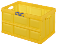 Horeca Select Metro-Klappbox 62 l Gelb