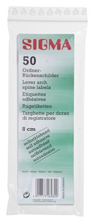 Sigma Rückenschilder breit weiss 50 Stück