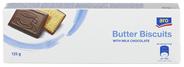 Aro Butterkekse mit Vollmilchschokolade 125 g Packung