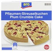 Aro Pflaumenstreuselkuchen tiefgefroren, individuell portionierbar, Ø 26 cm 1,25 kg Faltschachtel