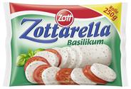 Zottarella Rolle Basilikum 45 % Fett i. Tr. 250 g Beutel