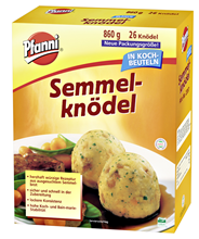 Pfanni Semmelknödel lockere Konsistenz, im Kochbeutel, ca. 26 Knödel 36 x 860 g Beutel