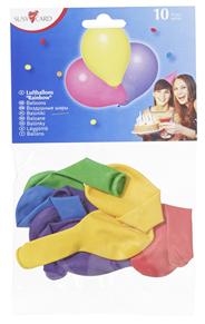 Susy Card Luftballons Regenbogen im Polybeutel, Umfang: 750-850 mm 10 Stück Beutel