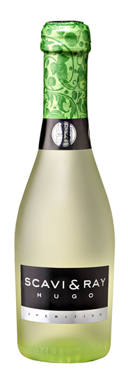 Scavi & Ray Hugo Piccolo Weißwein aromatisierter weinhaltiger Cocktail mit Holunderblüten-Minzgeschmack 0,2 l Flasche