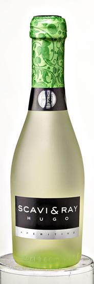 Scavi & Ray Hugo Piccolo Weißwein aromatisierter weinhaltiger Cocktail mit Holunderblüten-Minzgeschmack 24 x 0,2 l Flaschen