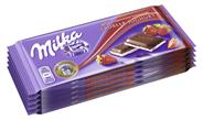 Milka Erdbeer 5 Stück à 100 g 500 g Packung
