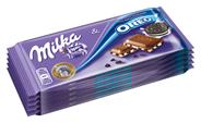 Milka & Oreo gefüllte Alpenmilch Schokolade mit Oreo-Keksstückchen 5 Stück à 100 g 500 g Packung