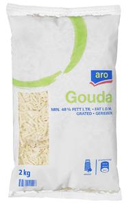 Horeca Select Gouda gerieben 48% Fett 5 x 2 kg Packungen
