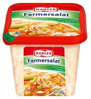 Nadler Farmersalat mit Karotten & Äpfeln, 28 % Fett 1 kg Packung