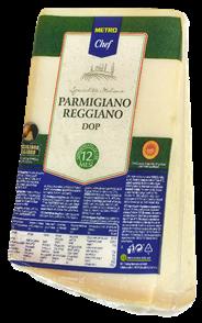 Horeca Select Parmigiano Reggiano Italienischer halbfetter Hartkäse, 1 Stück à ca. 1 kg, 32 % Fett ca. 1 kg
