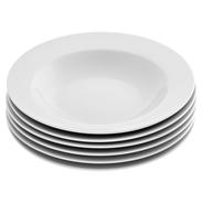 aro Tiefer Teller rund weiß Ø 21,5 cm, 6 Stück