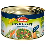 Erasco Grüne Bohnen Topf mit magerem Rindfleisch 4,5 kg Dose