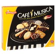 Griesson Cafe Musica Gebäckmischung mit Zartbitterschokolade (15 %), Milchschokolade (11,5 %) & weißer Schokolade (5,5 %) 500 g Packung