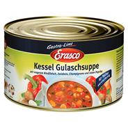 Erasco Kessel Gulaschsuppe mit magerem Rindfleisch und Gemüse 4,3 l Dose