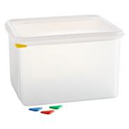 Horeca Select GN-Vorratsbehälter mit Deckel 12,6 l, GN 1/2-200 mm