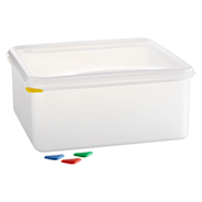 Horeca Select GN-Vorratsbehälter mit Deckel 13,5 l, GN 2/3 150 mm