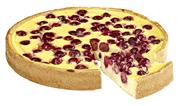 Aro Puddingkirschkuchen tiefgefroren, individuell portionierbar, ungeschnitten, Ø 26 cm 1,25 kg Packung