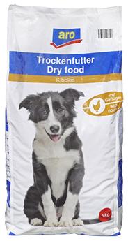 Aro Trockennahrung für den Hund mit Geflügel 5 kg Beutel