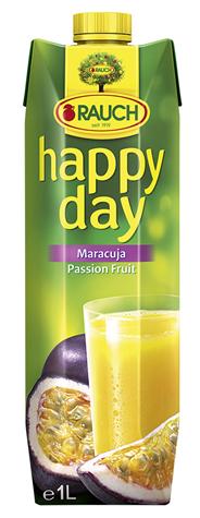 Happy Day Maracujasaft mind. 25% Fruchtgehalt mit Vitamin C 6 x 1 l Packungen