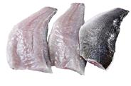 Wolfsbarschfilet ca. 90 - 125 g Stücke, mit Haut, TRIM D je kg
