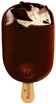 Langnese Magnum Classic Premium-Vanille Eis umhüllt von knackiger Milchschokolade 20 x 120 ml