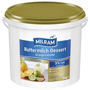 Milram Buttermilchdessert Orange-Limette 5 kg Eimer