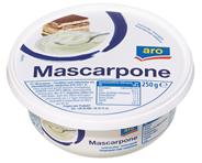 Aro Mascarpone Doppelrahm, 82 % Fett 250 g Becher