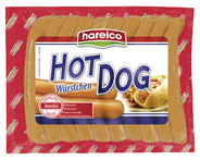 Hareico Hot Dog Würstchen gebrüht, Eiweißsaitling, 10 Stück á 60 g 600 g Packung