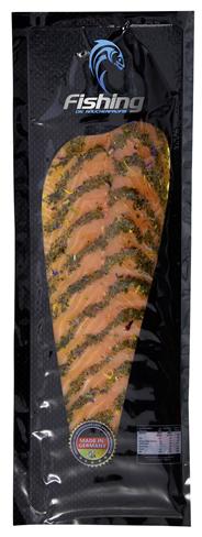 Vidal gebeizter Lachs mit Wildkräutern 500 g Packung