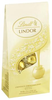 Lindt Lindor Milch-Kugeln weiß Schokolade mit zartschmelzender Füllung (44 %) 8 x 137 g Beutel