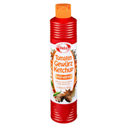 Hela Tomaten Gewürzketchup mild-würzig 12 x 800 ml Flaschen