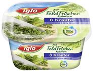 Iglo 8 Kräuter gemischt tiefgefroren, Mix aus Petersilie, Dill, Kresse, Kerbel, Schnittlauch, Sauerampfer, Borretsch, Pimpinelle 50 g Packung