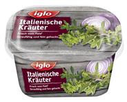 Iglo Italienische Kräuter Mix aus Rote Zwiebeln, Petersilie, Basilikum, grüner Knoblauch, Oregano & Thymian 50 g Packung