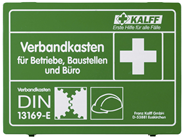 Kalff Betriebsverband-Kasten DIN 13169-E